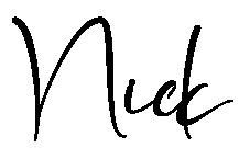 Nick in cursive